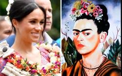 Frida Kahlo self portrait, meghan markle