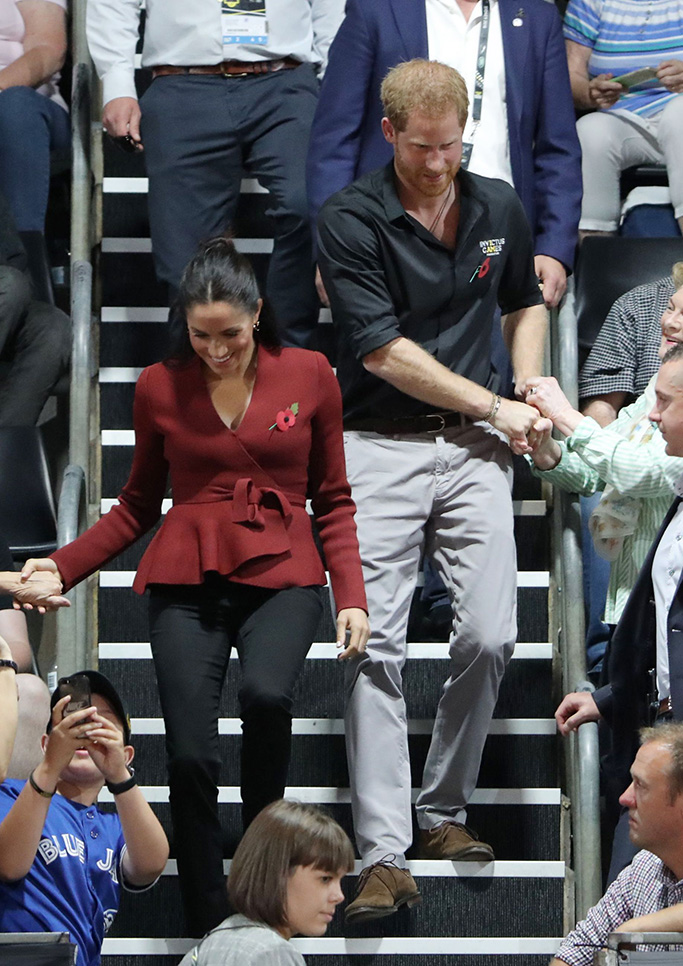Meghan Duchess of Sussex and Prince Harry attend the Wheelchair Basketball Final at the Invictus GamesPrince Harry and Meghan Duchess of Sussex tour of Australia - 27 Oct 2018