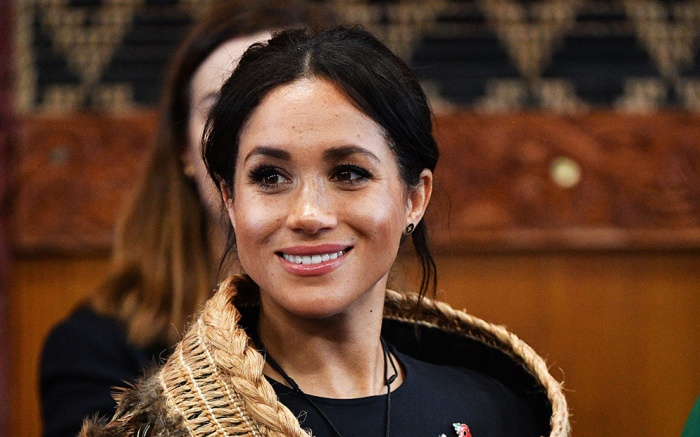 Meghan Duchess of Sussex attends a powhiri and luncheon in their Highnesses' honour at the Te Papaiouru Marae in Rotorua.Prince Harry and Meghan Duchess of Sussex tour of New Zealand - 31 Oct 2018