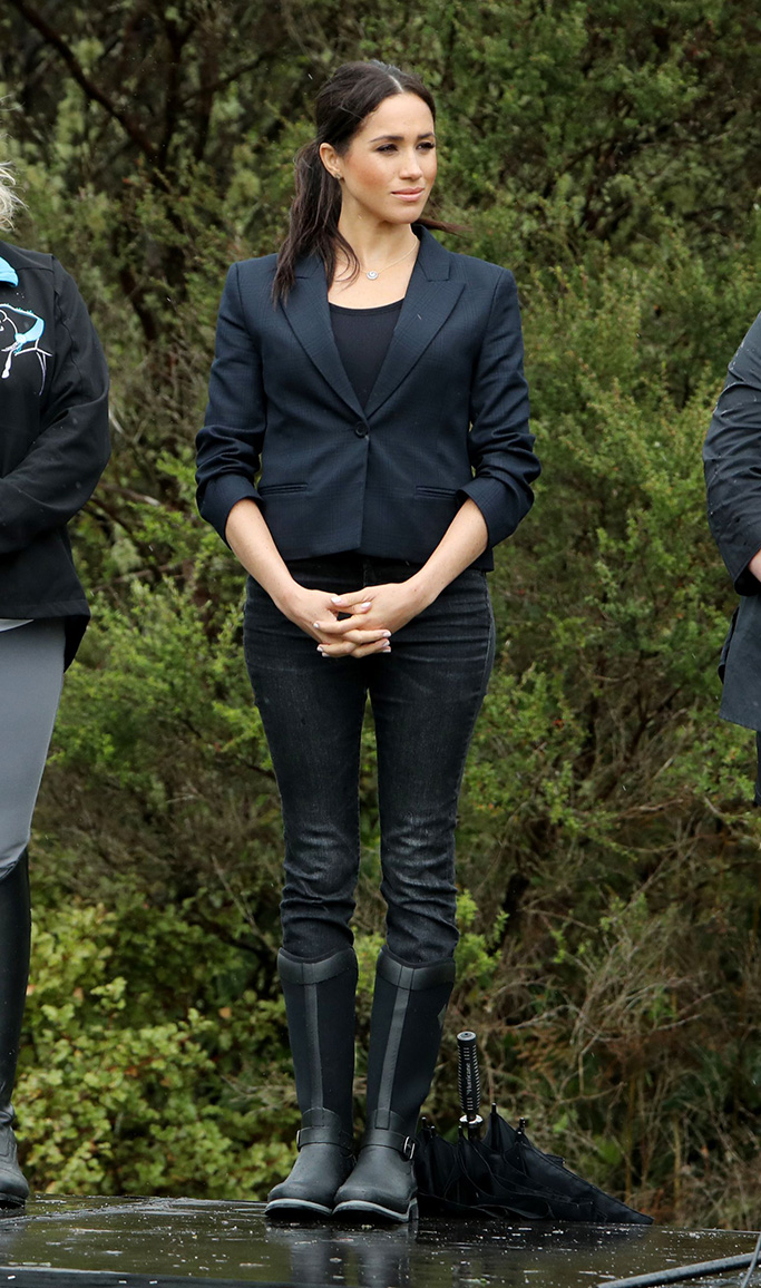 Muck Boot Company, Meghan Duchess of Sussex and Prince Harry dedicate a 20-hectare area of native bush to The Queen's Commonwealth Canopy at Abel Tasman National Park in Auckland.Prince Harry and Meghan Duchess of Sussex tour of New Zealand - 30 Oct 2018