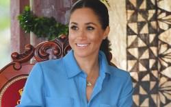 veronica beard blue dress, Meghan Duchess