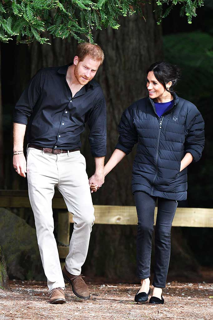 The Duke and Duchess wore matching Jackets to visit a forest.