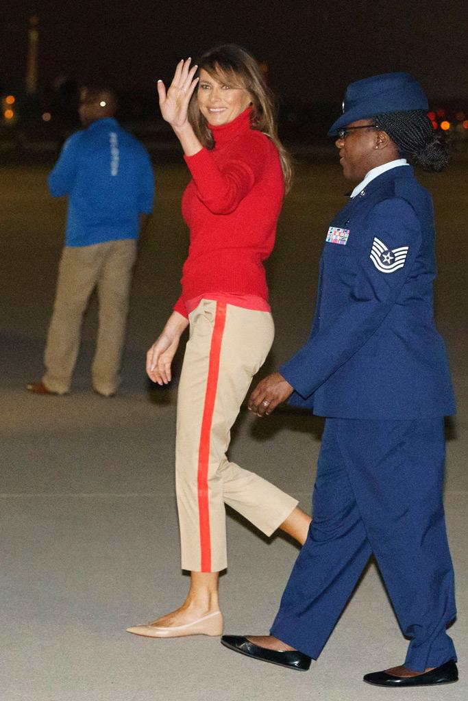 Melania Trump, Andrews Air Force Base