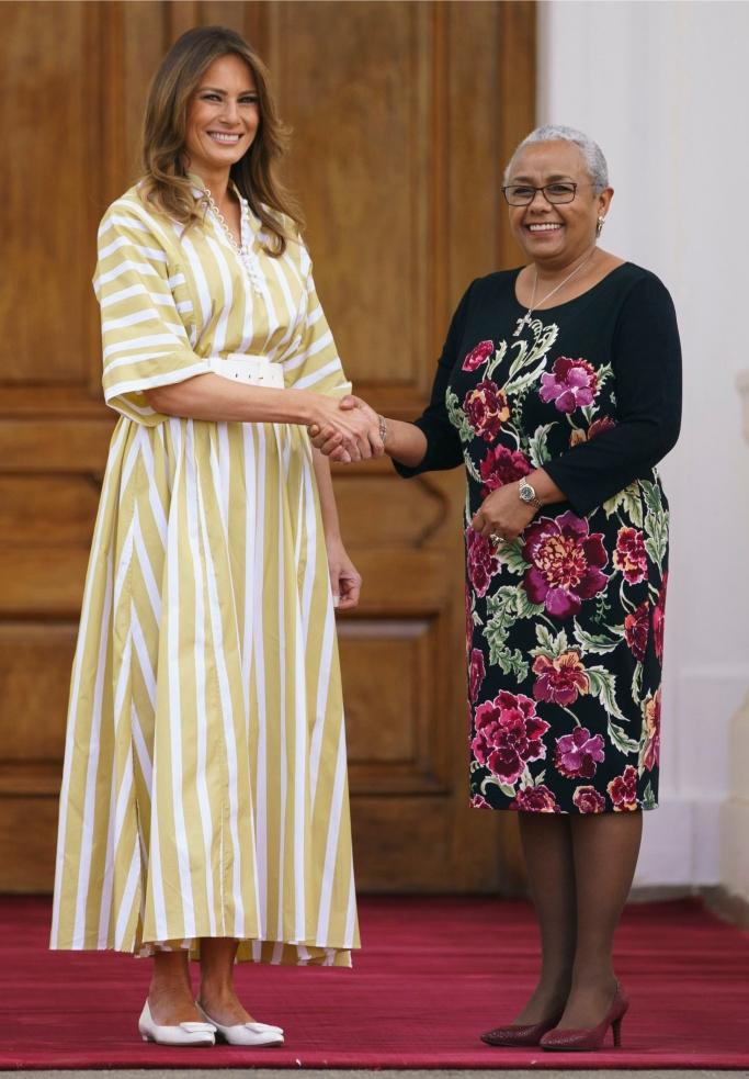 melania trump, Kenya's first lady Margaret Kenyatta