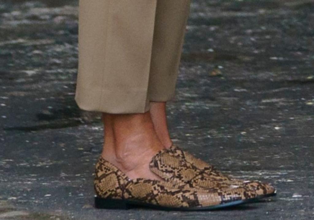 zara faux python loafers, melania trump