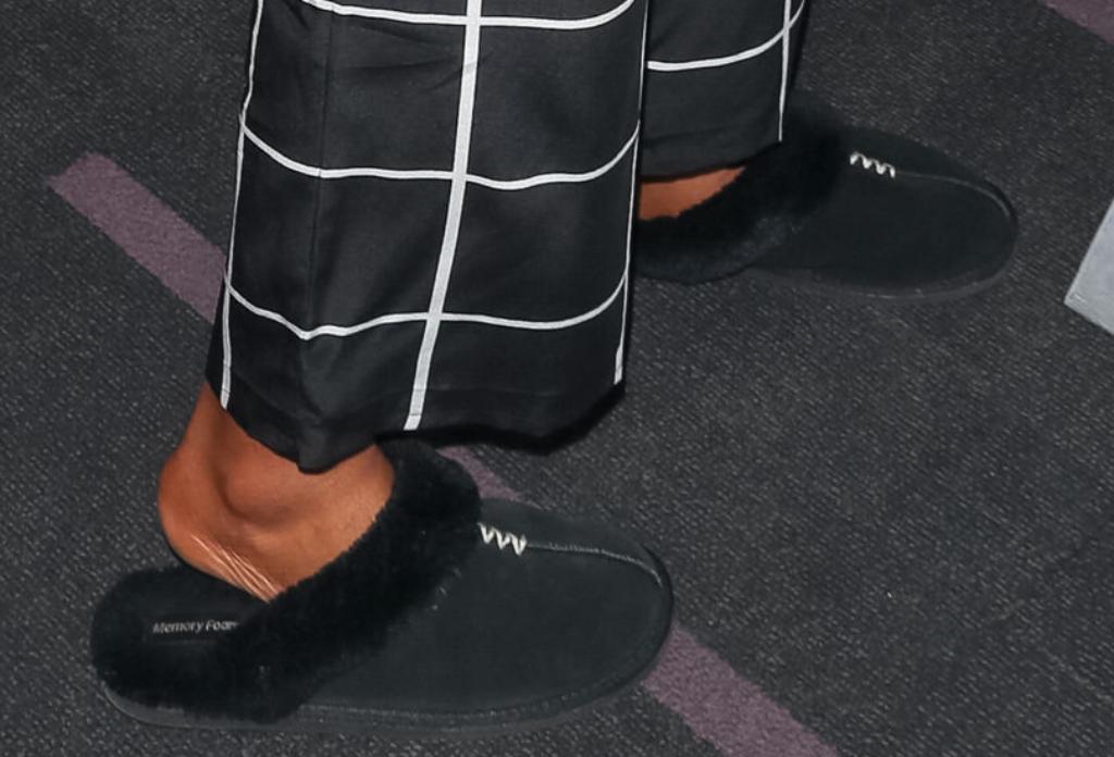 tiffany haddish, memory foam slippers