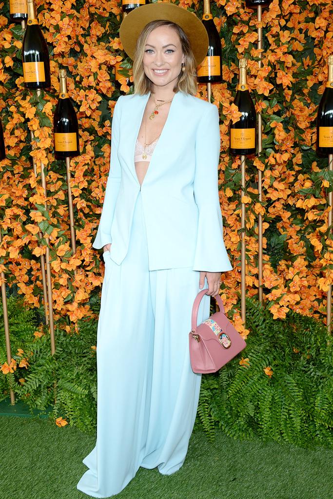 Olivia Wilde, Veuve Clicquot Polo Classic, suit, alice & olivia, red carpet,