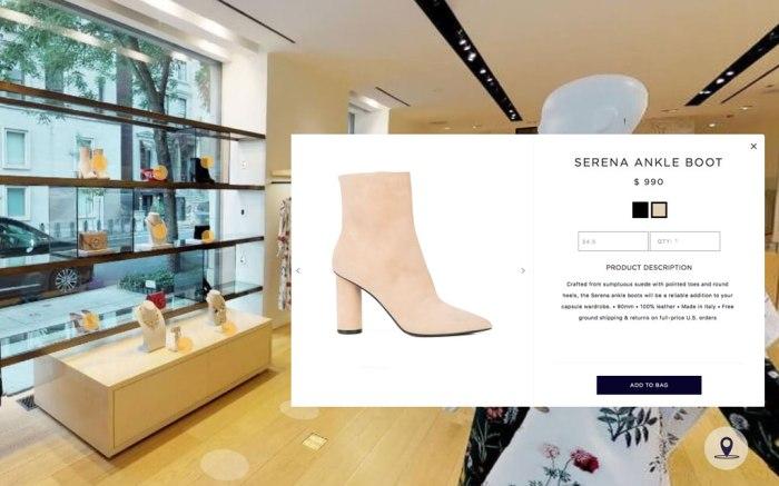 An example of Oscar de la Renta's immersive virtual shopping experience