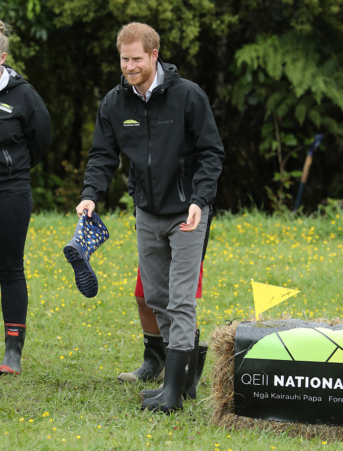 Meghan Duchess of Sussex and Prince Harry dedicate a 20-hectare area of native bush to The Queen's Commonwealth Canopy at Abel Tasman National Park in Auckland.Prince Harry and Meghan Duchess of Sussex tour of New Zealand - 30 Oct 2018