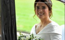Princess Eugenie's wedding dress was by