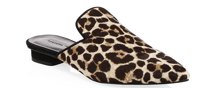 Rebecca MinkoffChamille Too Leopard Calf Hair Mules