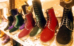 A SHELF OF DOC MARTENS BOOTSDOC