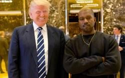 Donald Trump, Kanye West. President-elect Donald