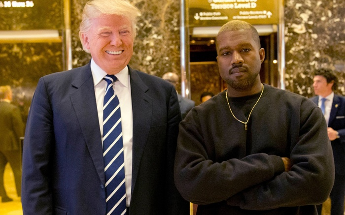 Donald Trump, Kanye West. President-elect Donald Trump and Kanye West pose for a picture in the lobby of Trump Tower in New YorkTrump, New York, USA - 13 Dec 2016