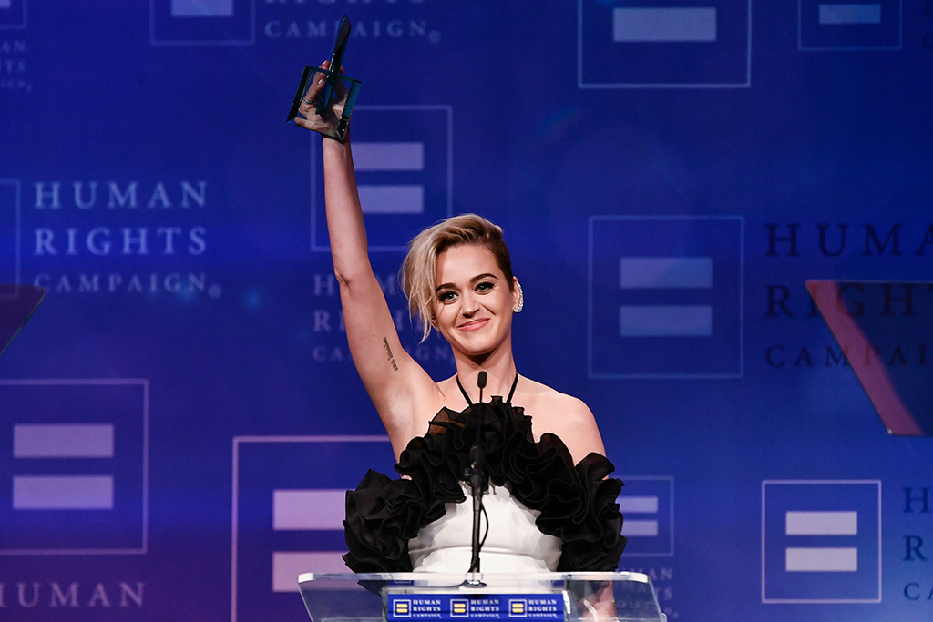 Katy Perry The Human Rights Campaign Gala Dinner, Show, Los Angeles, USA - 18 Mar 2017