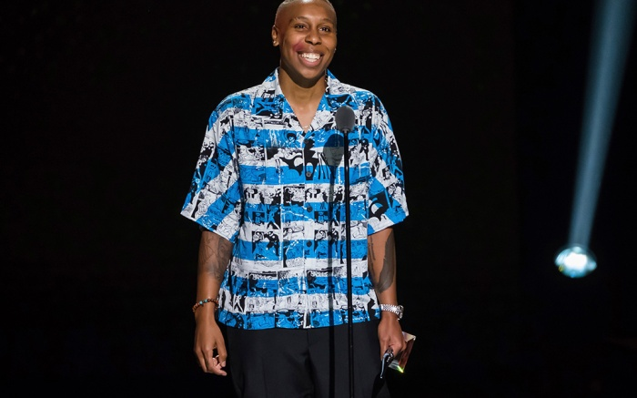 Lena Waithe speaks at the Black Girls Rock! Awards at New Jersey Performing Arts Center, in Newark, N.J2018 Black Girls Rock Awards - Show, Newark, USA - 26 Aug 2018