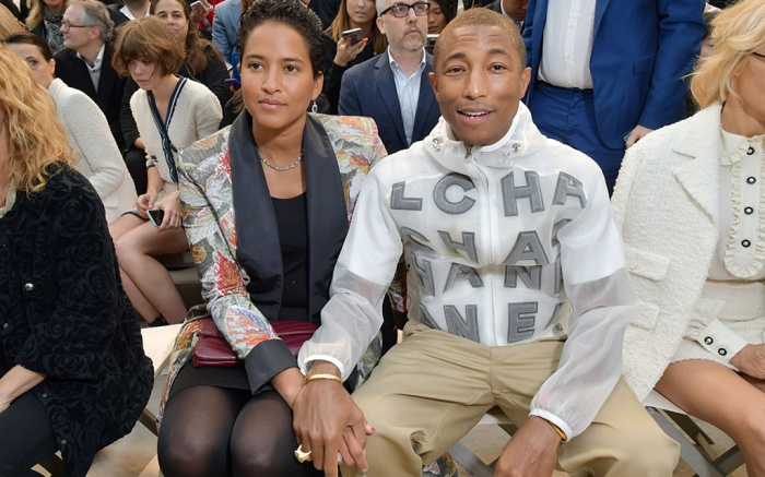 Pharrell Williams and Helen Lasichanh in the front rowChanel show, Front Row, Spring Summer 2019, Paris Fashion Week, France - 02 Oct 2018