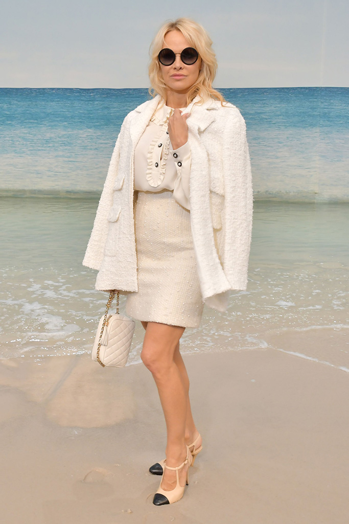 Pamela Anderson in the front rowChanel show, Front Row, Spring Summer 2019, Paris Fashion Week, France - 02 Oct 2018WEARING CHANEL SAME OUTFIT AS CATWALK MODEL *9658635ab AND Charlotte Cardin