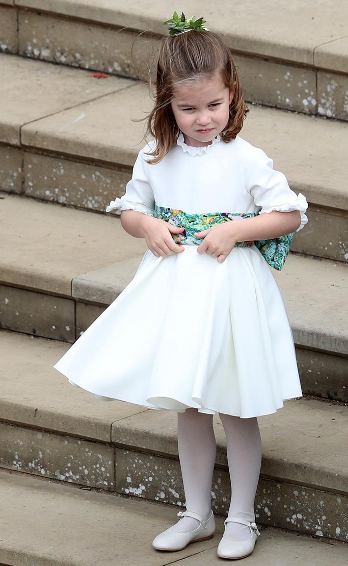 Princess Charlotte The wedding of Princess Eugenie and Jack Brooksbank, Pre-Ceremony, Windsor, Berkshire, UK - 12 Oct 2018