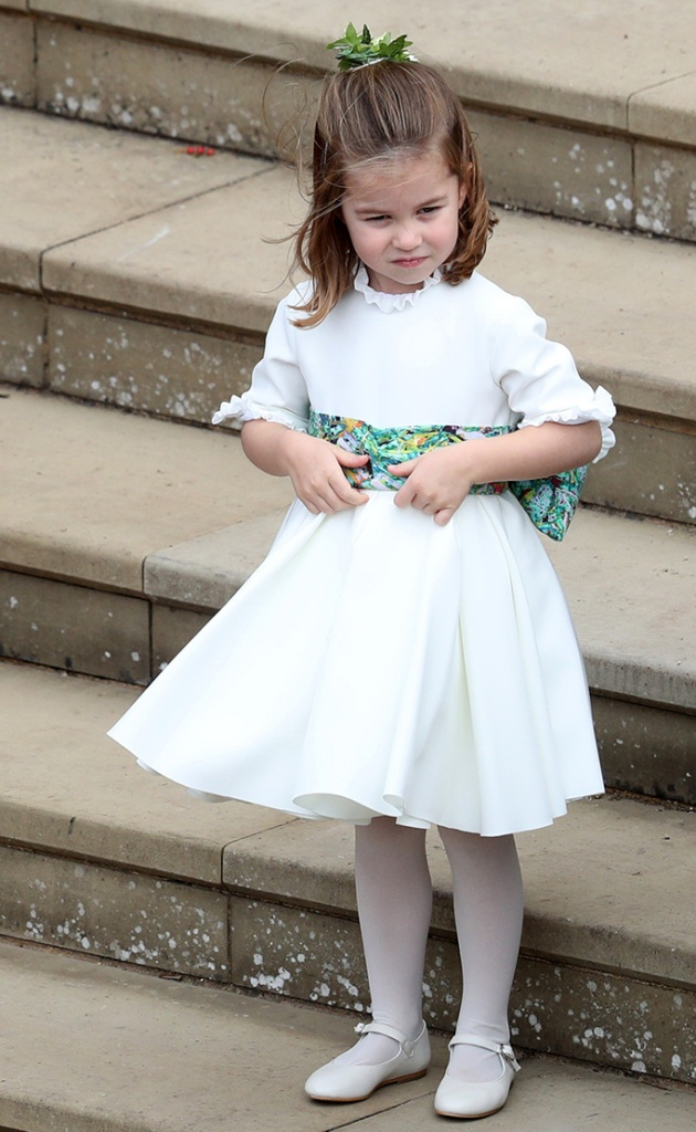 Princess Charlotte The wedding of Princess Eugenie and Jack Brooksbank, Pre-Ceremony, Windsor, Berkshire, UK - 12 Oct 2018
