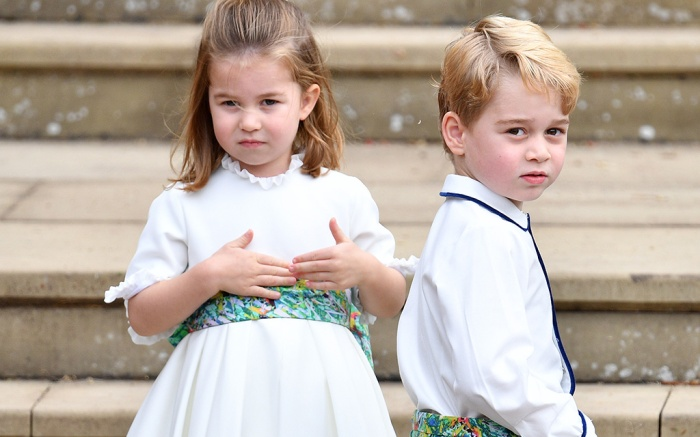 Princess Charlotte, Prince George, wedding, Princess Eugenie and Jack Brooksbank, Pre-Ceremony, Windsor, Berkshire, UK - 12 Oct 2018