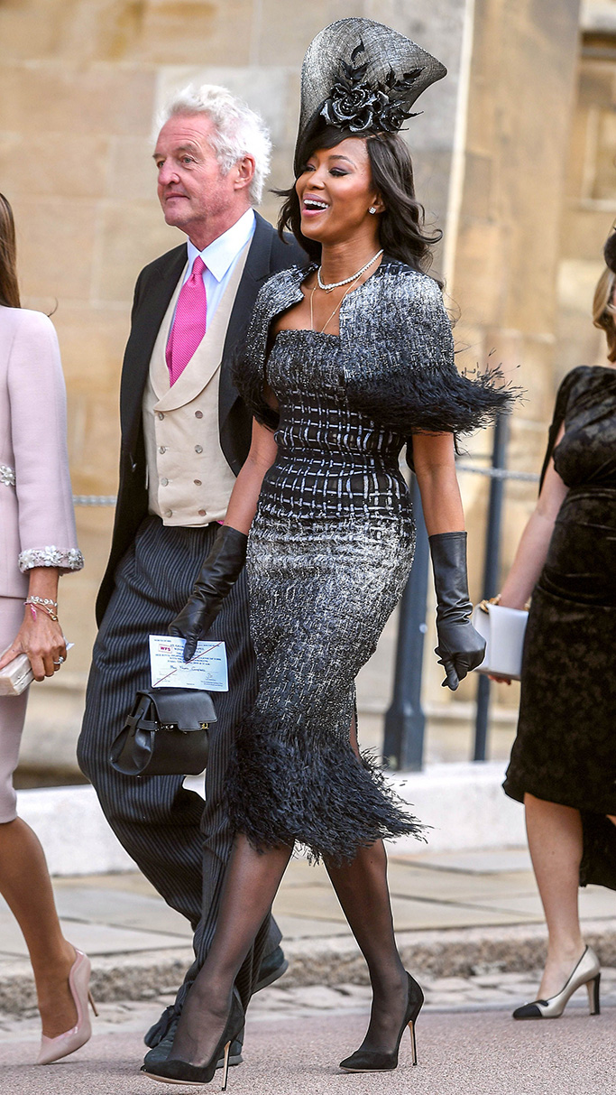 Naomi Campbell arrives The wedding of Princess Eugenie and Jack Brooksbank, Windsor Castle, Berkshire, UK - 12 Oct 2018