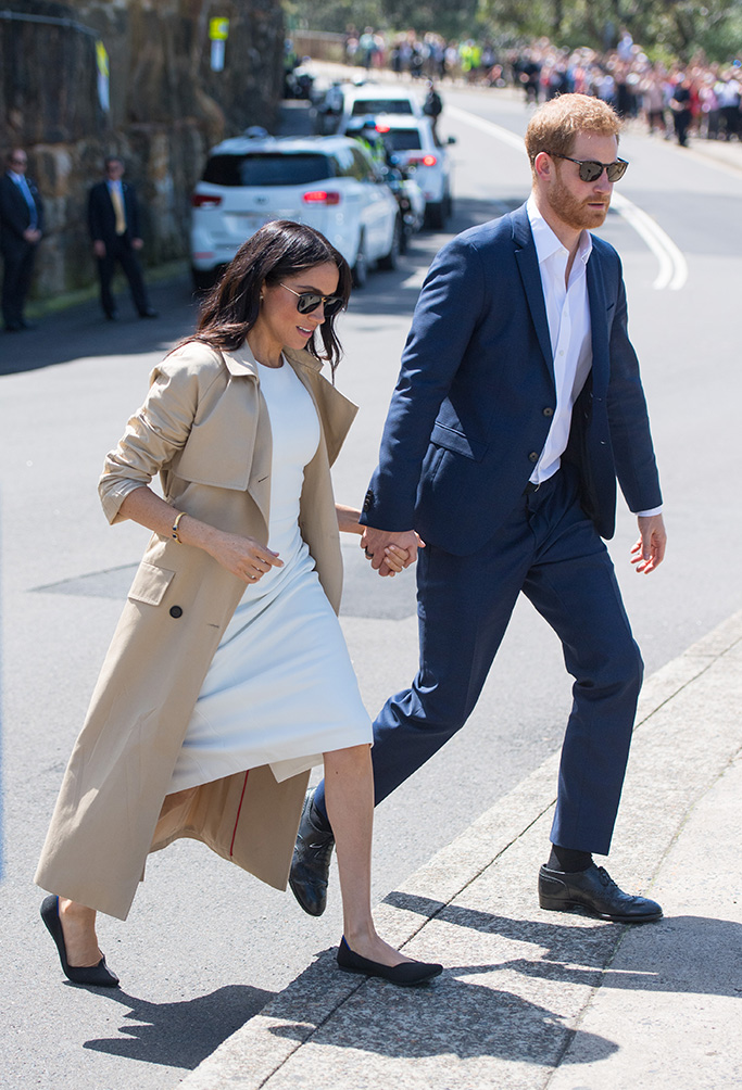 Prince Harry and Meghan Duchess of Sussex depart following a visit to Taronga Zoo in Sydney on the first day of the Royal couple's visit to Australia.Prince Harry and Meghan Duchess of Sussex tour of Australia - 16 Oct 2018