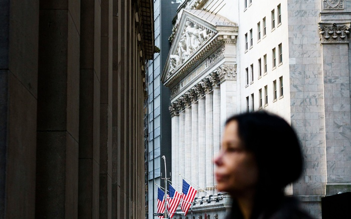 A view of the New York Stock Exchange at the start of the trading day in New York, New York, USA, 23 October 2018. The Dow Jones industrial average dropped over 500 points during morning trading.New York Stock Exchange, USA - 23 Oct 2018