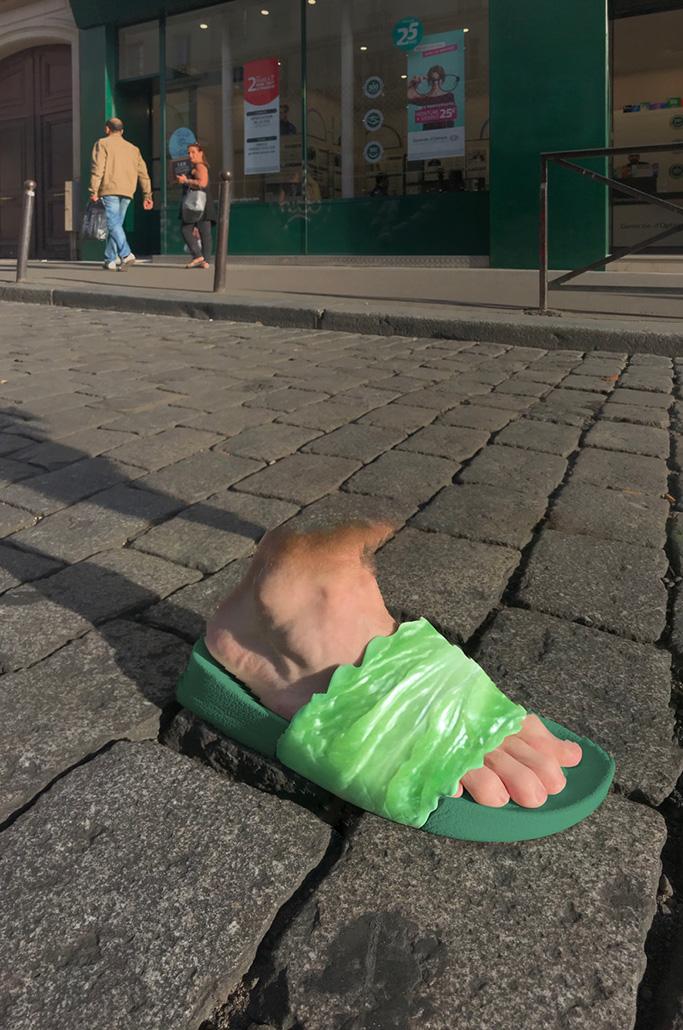 Rombaut's lettuce slide sandals