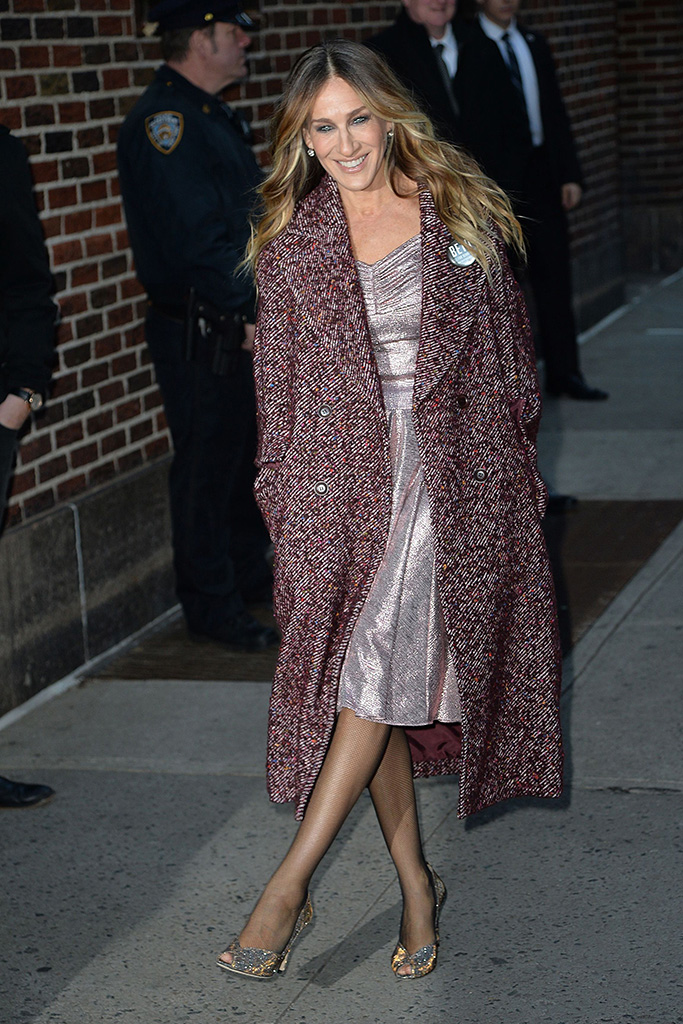 Sarah Jessica Parker'The Late Show With Stephen Colbert' TV show, New York, USA - 30 Oct 2018
