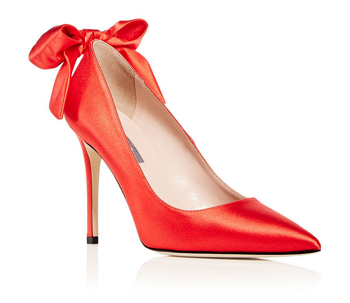 SJP by Sarah Jessica Parker red satin Lucille pumps