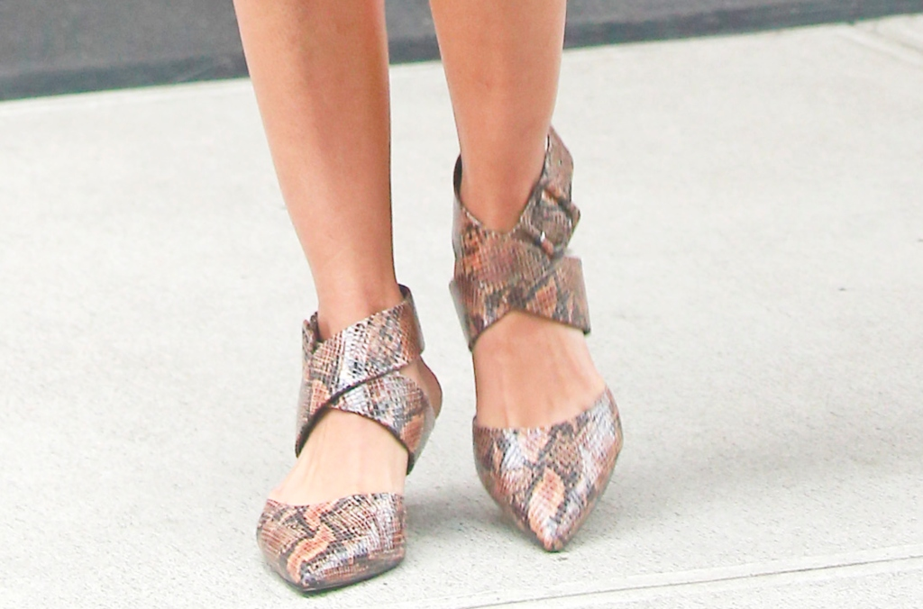 priyanka chopra, snakeskin shoes