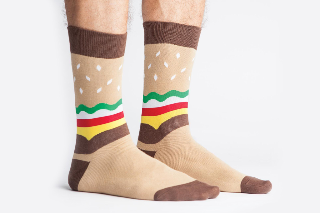 Sock It To Me Men Hamburger Socks