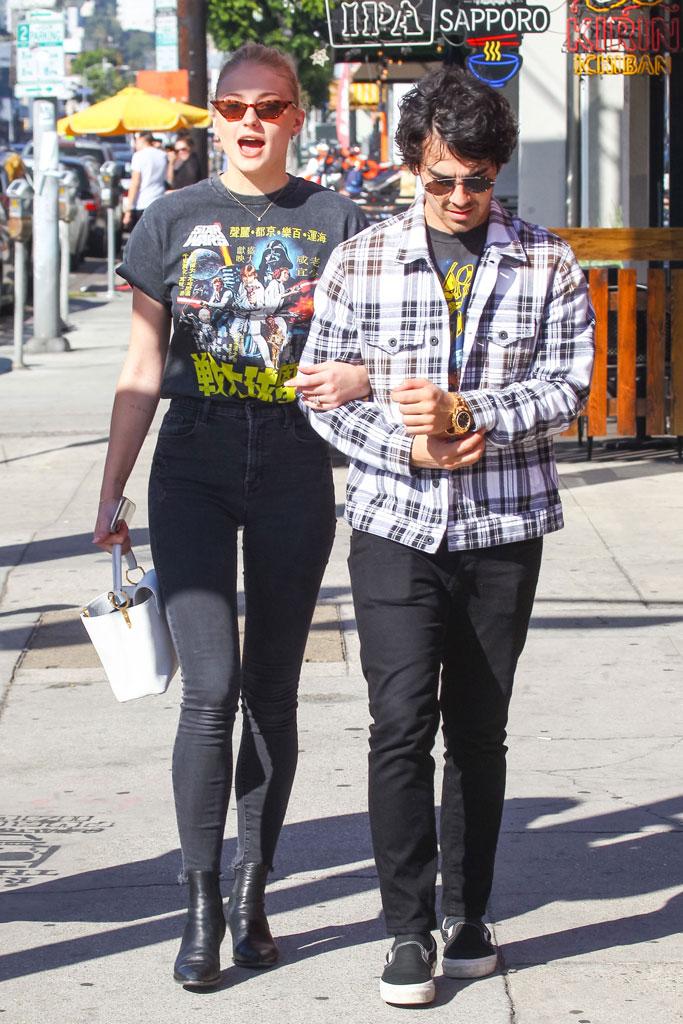 Sophie Turner and Joe Jonas, celebrity style, twinning, engaged