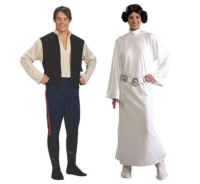 Princess Leia and Hans Solo couple halloween costume