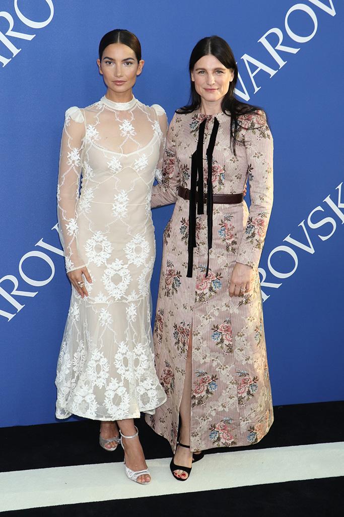 Lily Aldridge and Tabitha SimmonsCFDA Fashion Awards, Arrivals, New York, USA - 04 Jun 2018