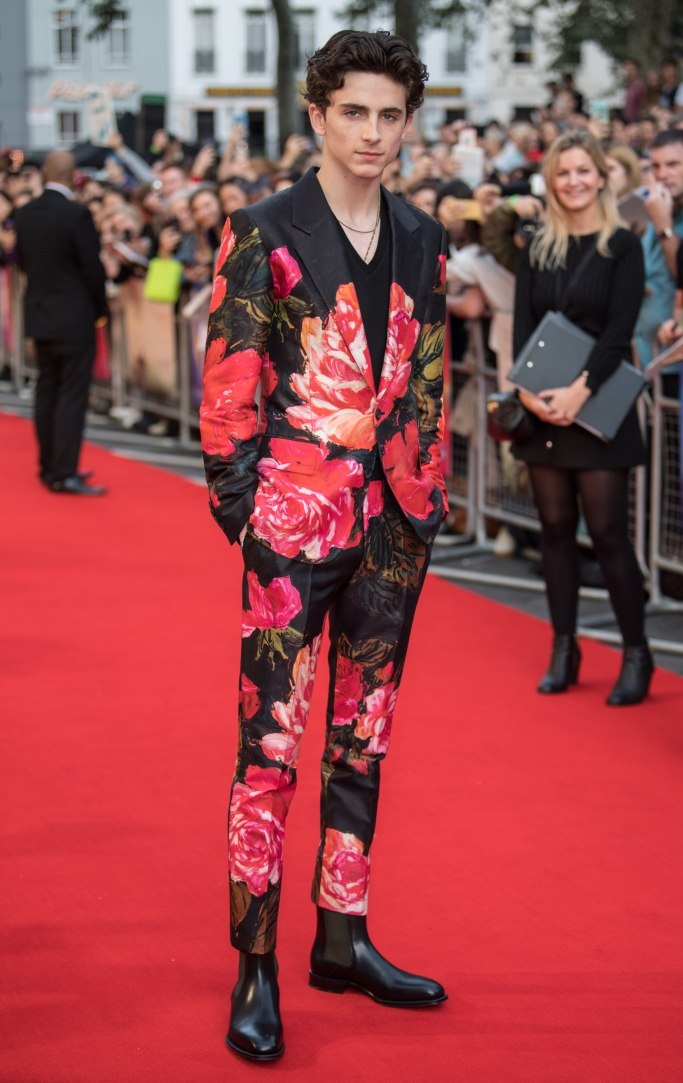 BFI London Film Festival, Christian Louboutin Chelsea boots, alexander mcqueen fall 2018, timothee chalamet, bfi
