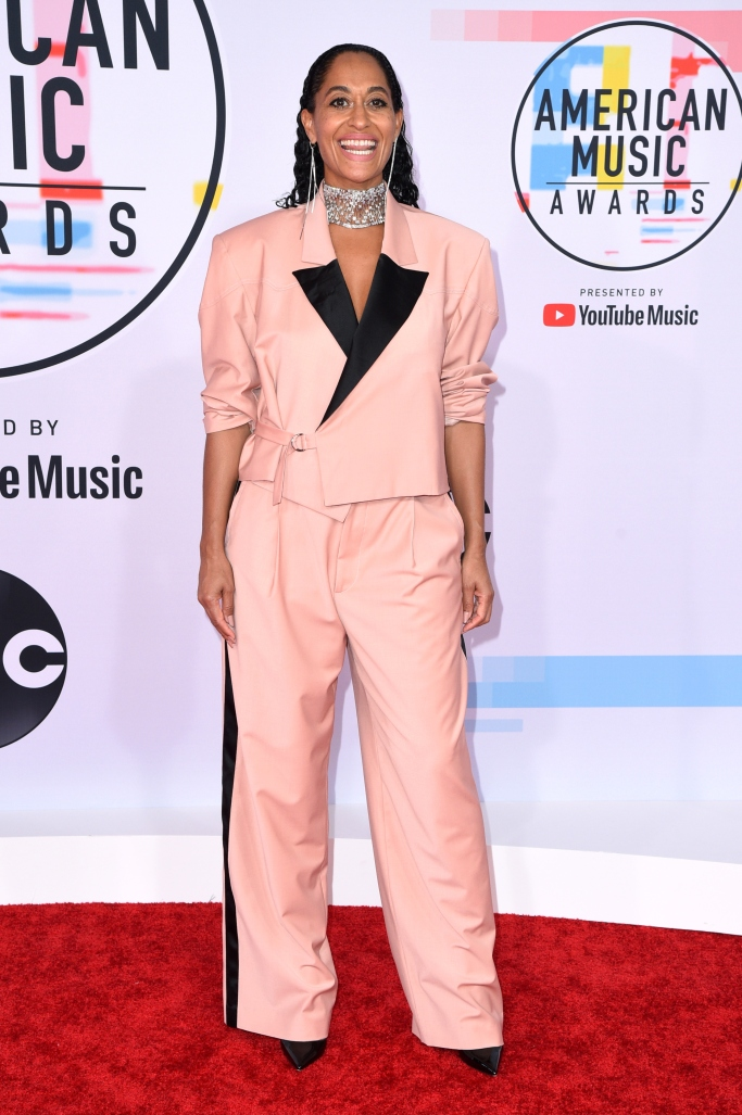 tracee ellis ross, red carpet style, amas 2018