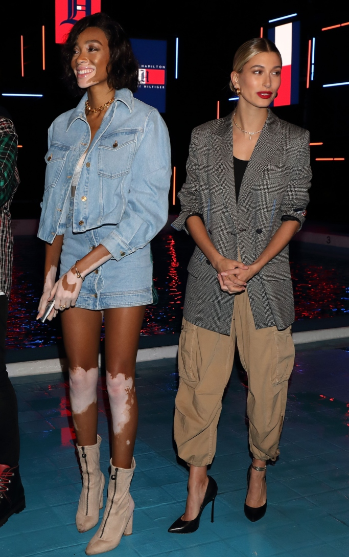 winnie harlow, hailey baldwin, Tommy Hilfiger Presents Tokyo Icons event