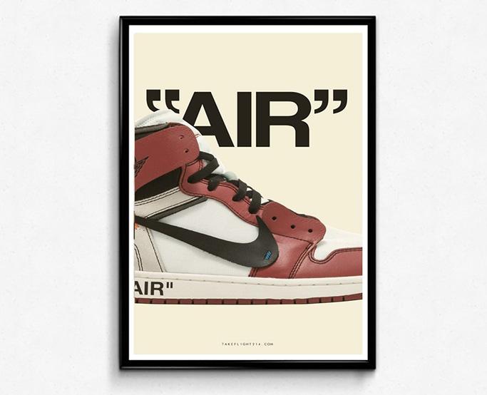 "Rob Tee's Custom ""Air"" Sneaker Poster"