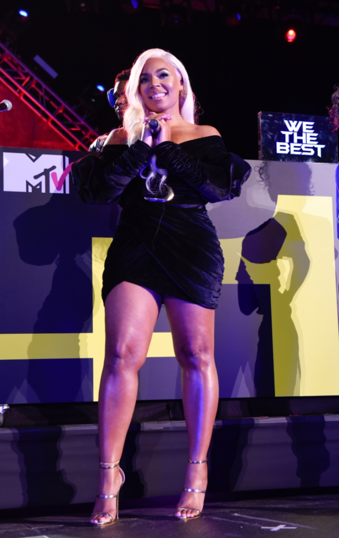 Ashanti performing at the MTV Midterm Election Afterparty