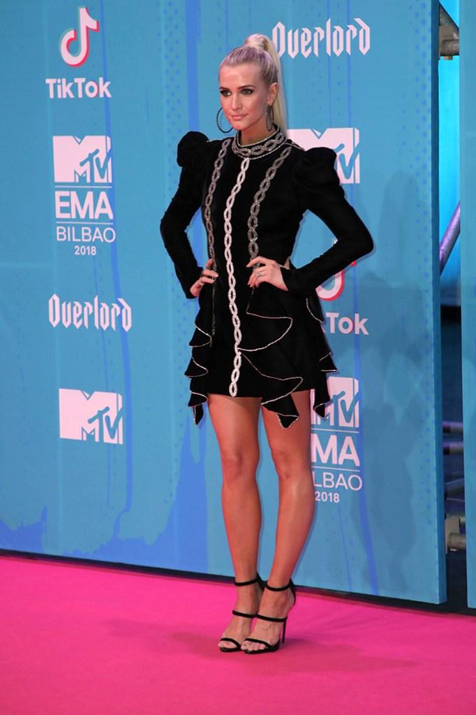 Ashlee Simpson, spain, european mtv music awards 2018, red carpet