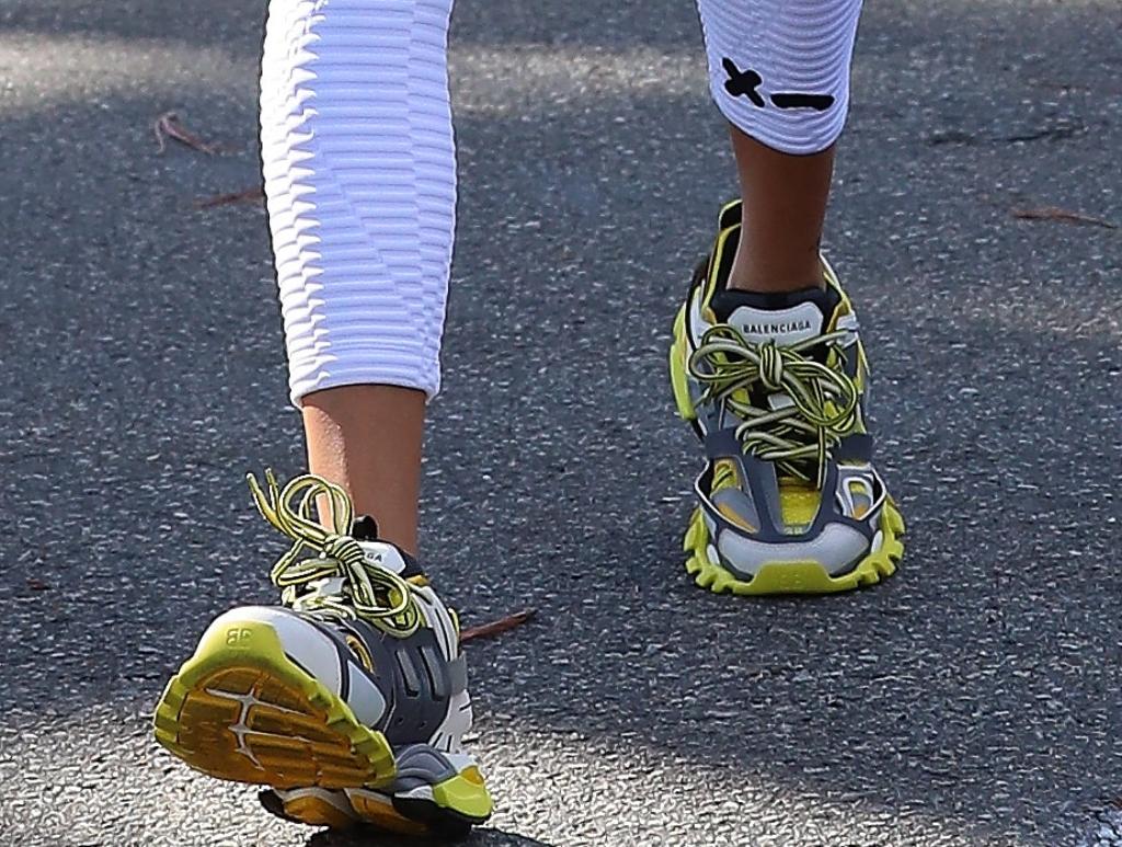 Hailey Baldwin, balenciaga track sneakers