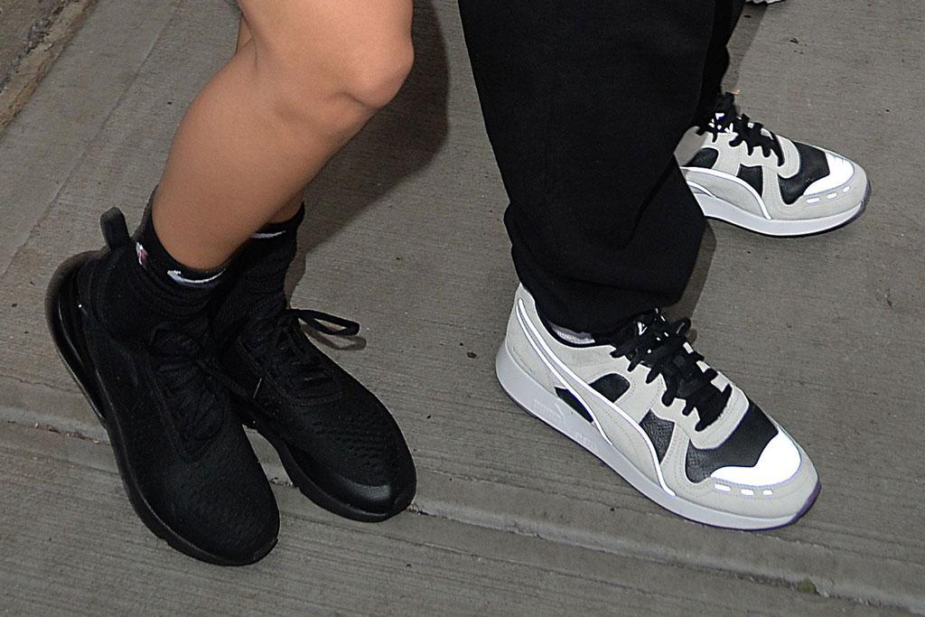 bella hadid, the weeknd, sneakers, puma, nike, new york