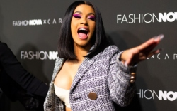 Cardi B at the launch of