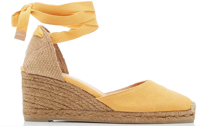 Castañer Carina Canvas Lace-Up Espadrilles
