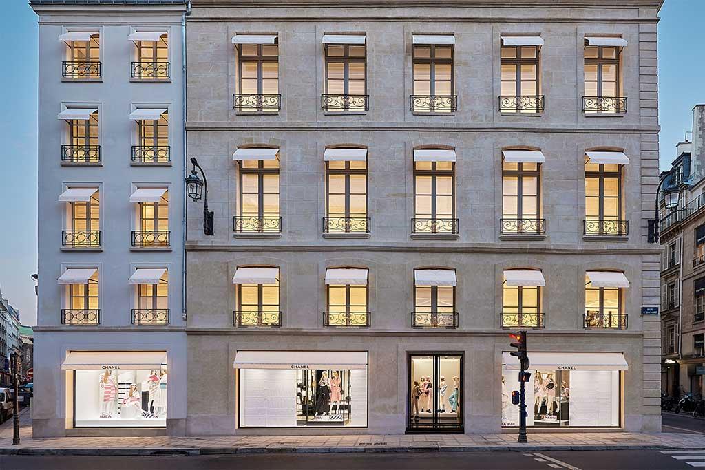 Exterior of Chanel rue Cambon Paris.