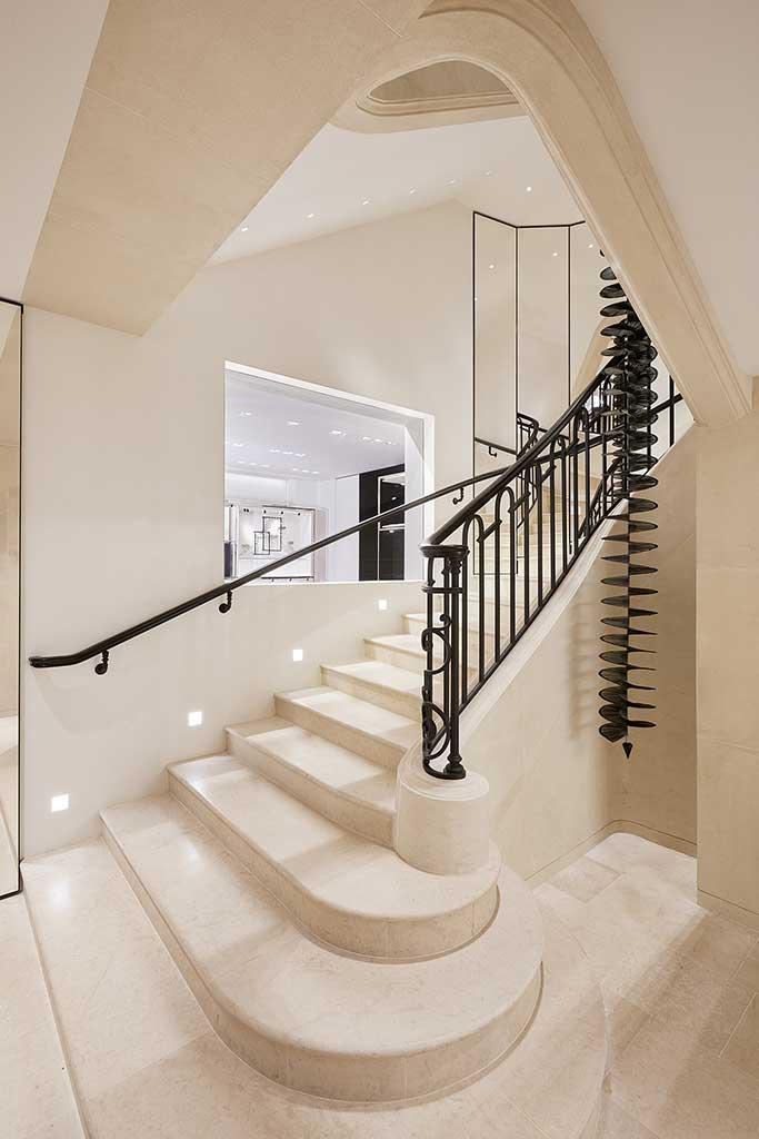 Interior of Chanel rue Cambon Paris.