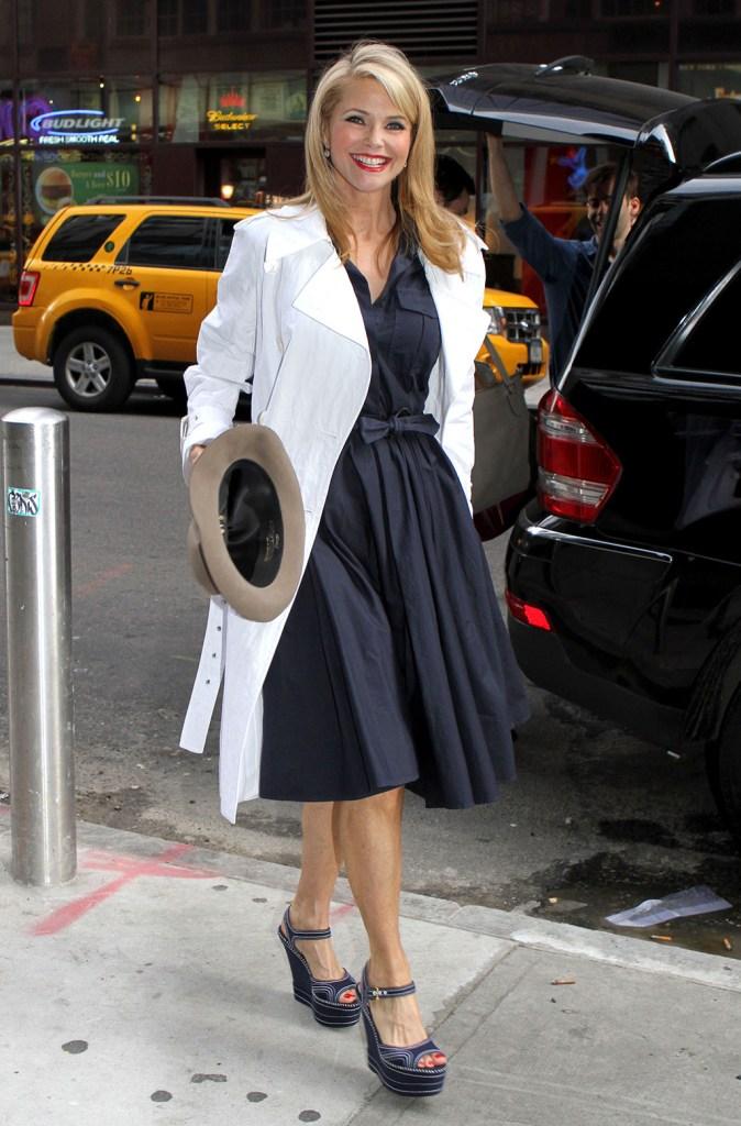 Christie BrinkleyChristie Brinkley outside the Ambassador Theatre, New York, America - 11 Apr 2011