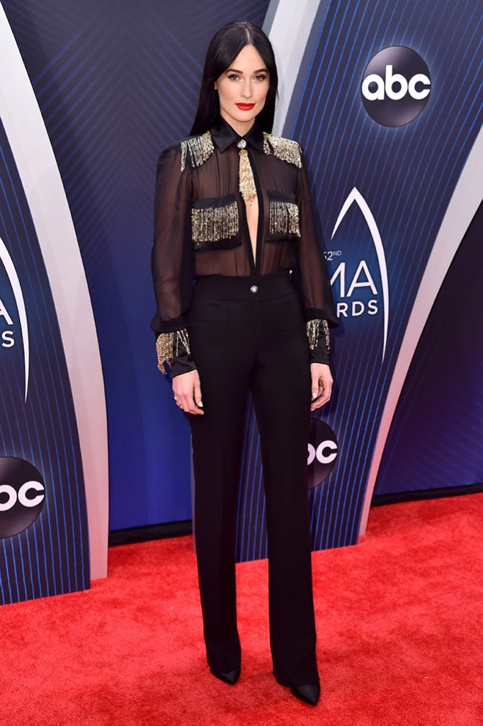Kacey Musgraves, versace, 52nd Annual CMA Awards, Arrivals, Nashville, USA - 14 Nov 2018